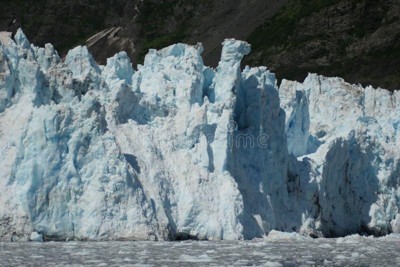 Cascade et glaciers de Barry photo stock