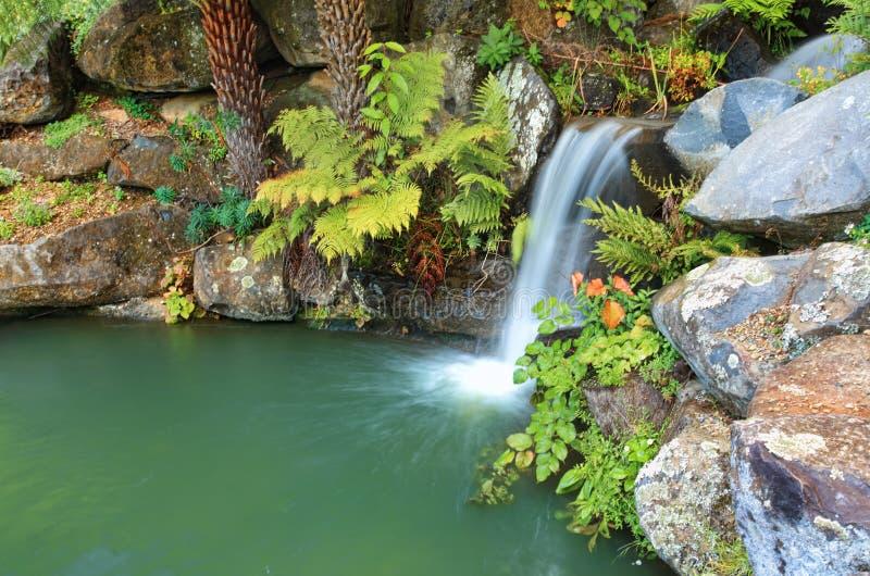 Cascade et lagune à l'Australie de Mt Tomah NSW images stock