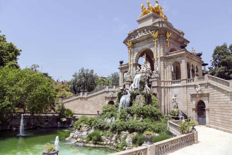 Cascade fountain of Parc de la Ciutadella royalty free stock photography