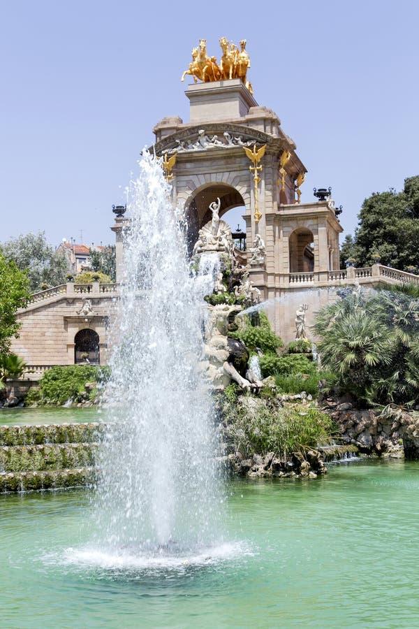 Cascade fountain of Parc de la Ciutadella stock image