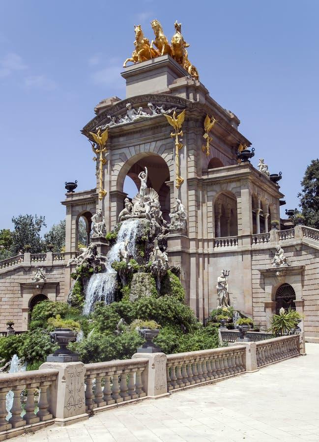 Cascade fountain of Parc de la Ciutadella royalty free stock image
