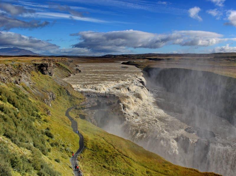 Cascade Gulfoss, Islande photo stock