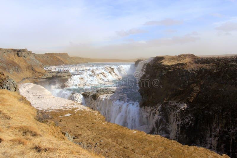 Cascade Gullfoss en Islande photographie stock libre de droits