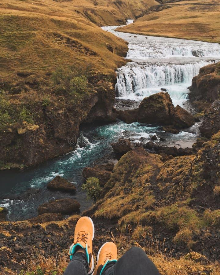 Cascade islandaise Skogar images stock
