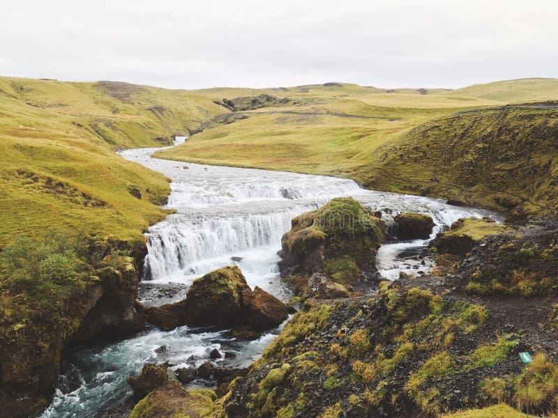 Cascade islandaise Skogar image stock