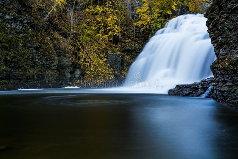 Cascade - Ithaca, New York image stock