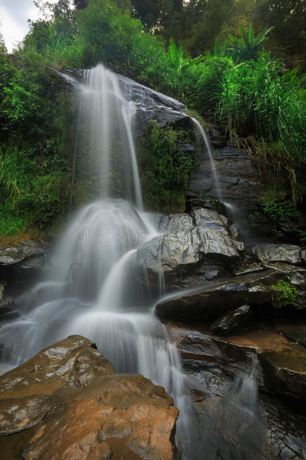 Cascade in the jungle royalty free stock image