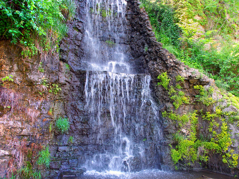 Cascade L Illinois De Parc De Krape Photographie stock