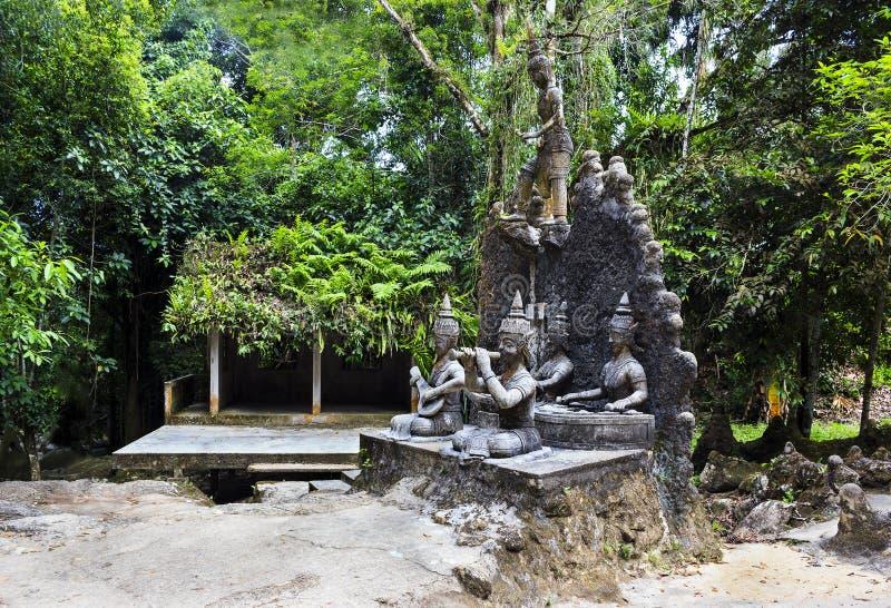 Cascade magique de jardin de Tanim image stock