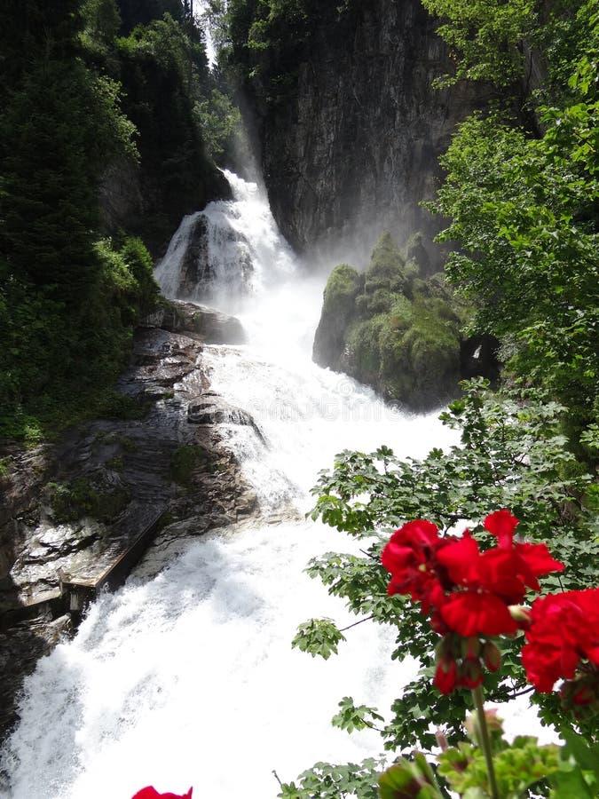 Cascade mauvais Gastein Autriche image stock