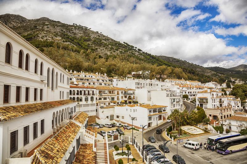 Cascade in Mijas, Spanje royalty-vrije stock fotografie