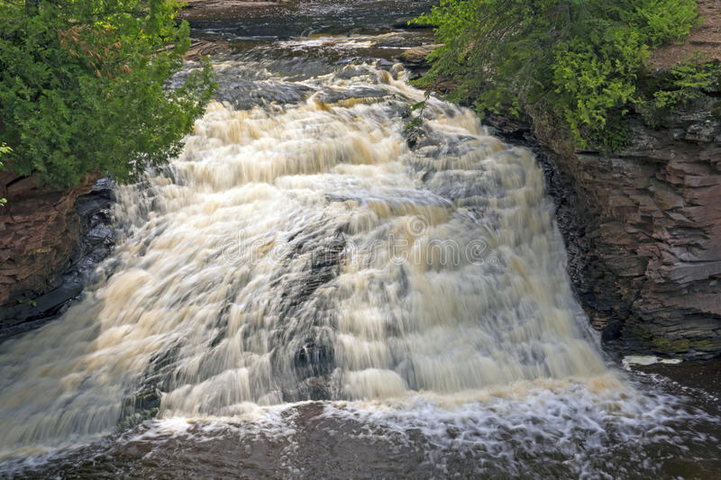 Cascade in the North Woods royalty free stock photos