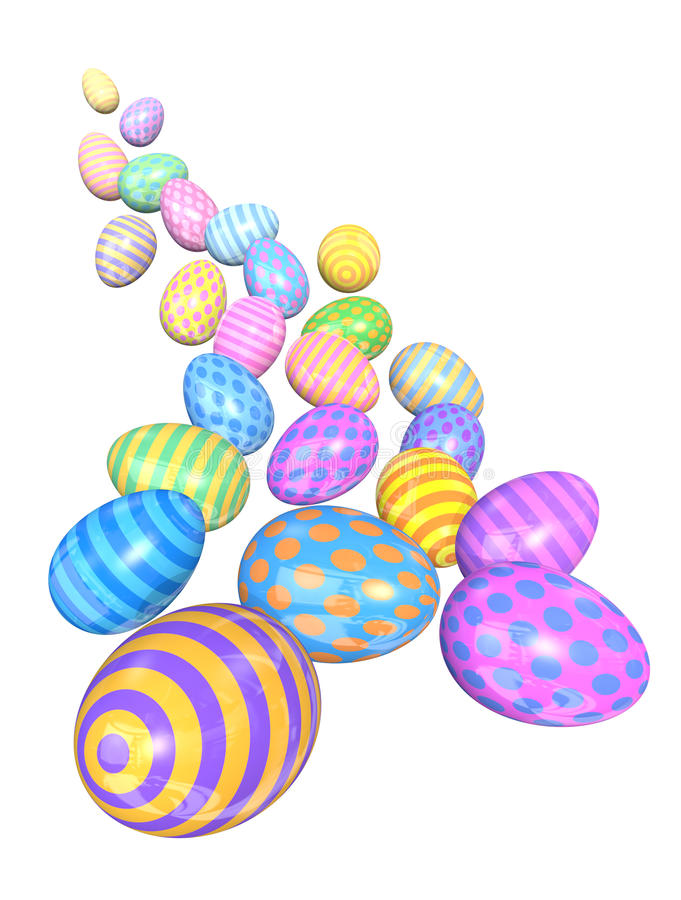 Free Cascade Of Colorful Easter Eggs Royalty Free Stock Images - 17719079