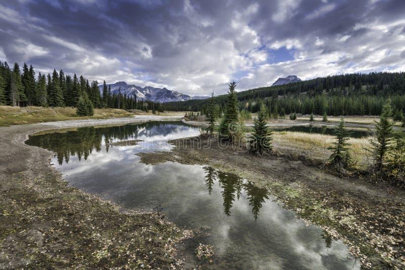 Cascade Ponds Reflections stock image