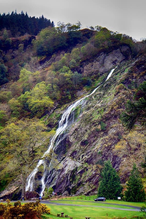 Cascade, Powerscourt, Irlande images libres de droits