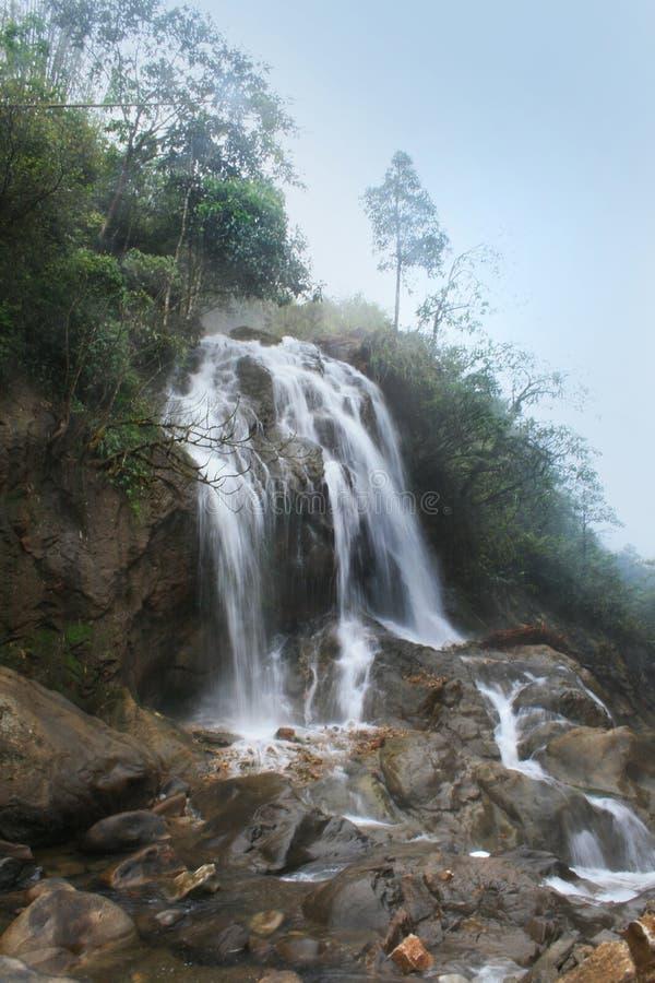 Cascade près de la ville de Sapa, Vietnam photographie stock libre de droits