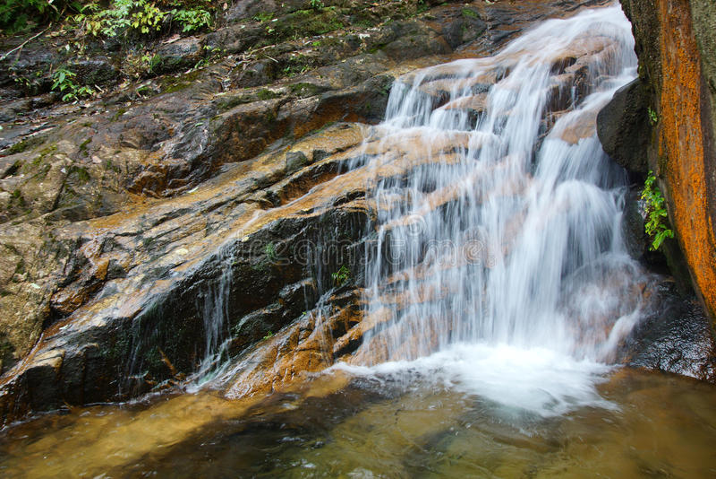 Cascade près de montagne de Wuyishan, province de Fujian, Chine image stock