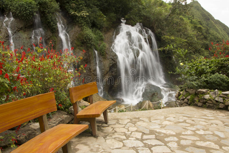 Cascade SAPA, Vietnam de Tien Sa images stock