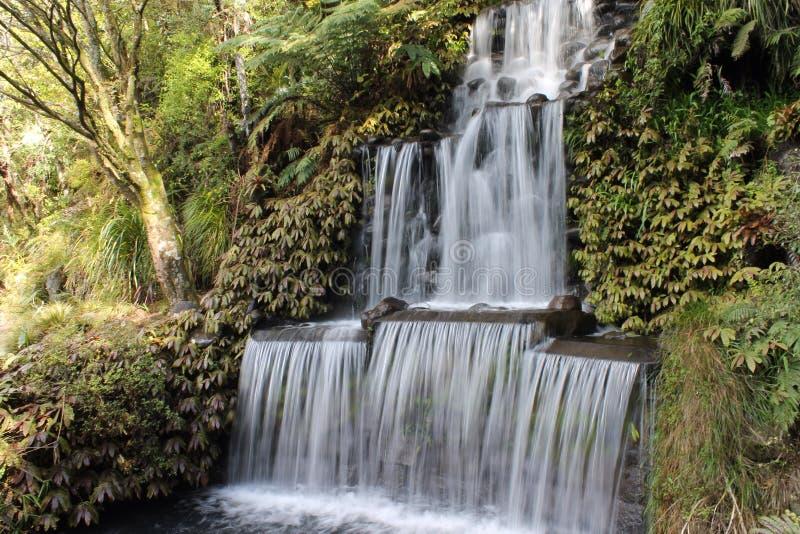 Cascade soyeuse photo stock