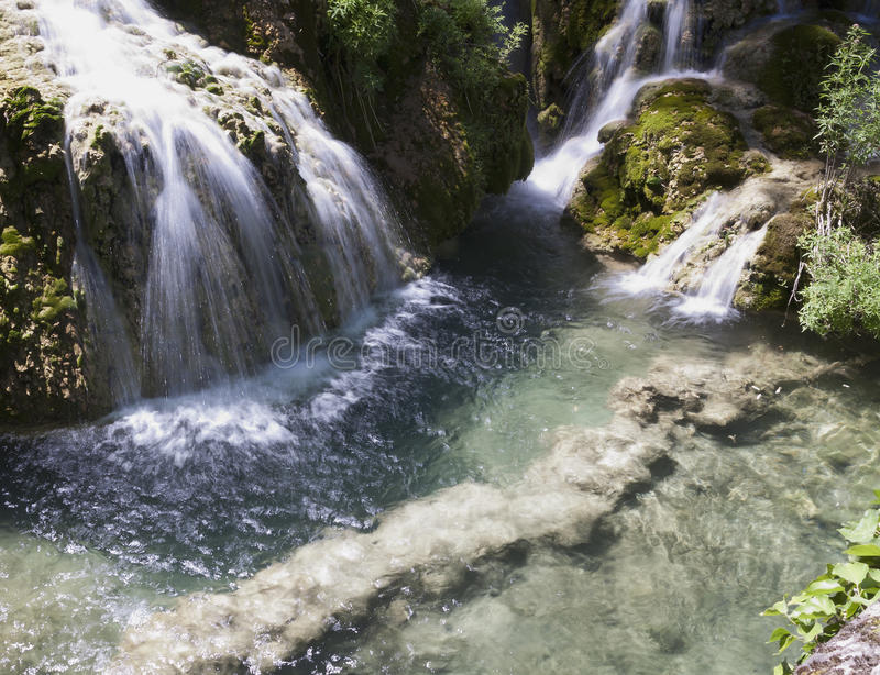 Download Cascade in spring forest stock image. Image of leisure - 28940751