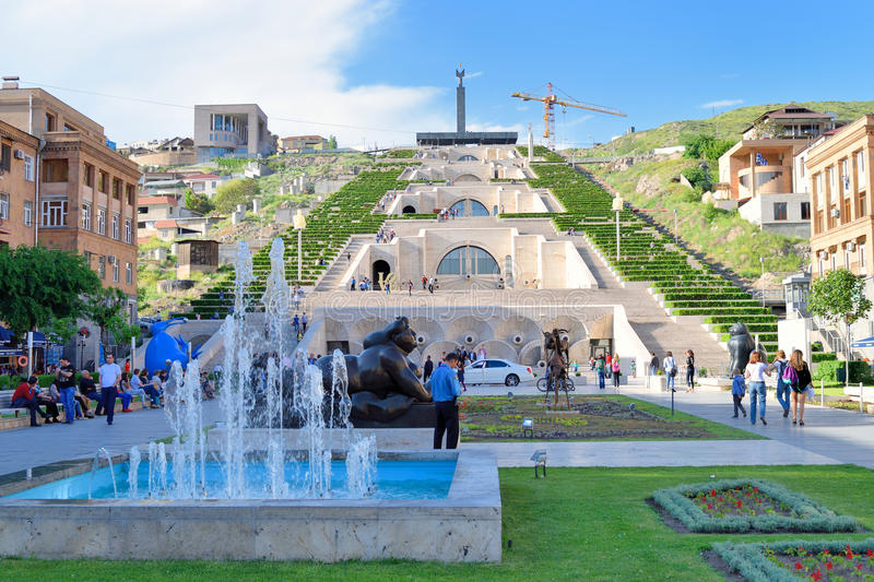 Download The Cascade Stairway, Yerevan, Armenia Editorial Photo   Image Of  Center, Museum