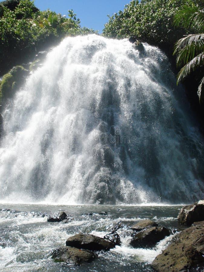 Cascade tropicale en Micronésie photographie stock libre de droits