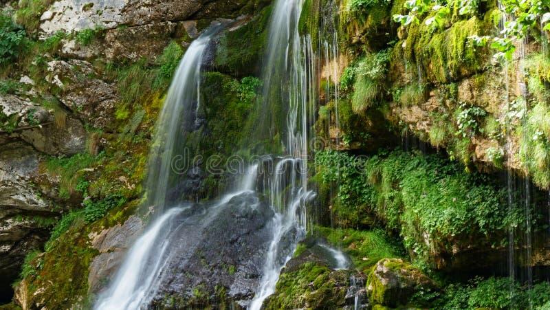 Cascade, waterval in Slovenië stock foto