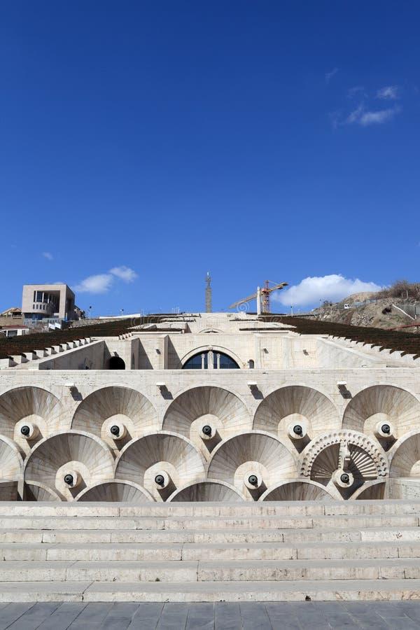 Cascademening in Yerevan royalty-vrije stock foto's