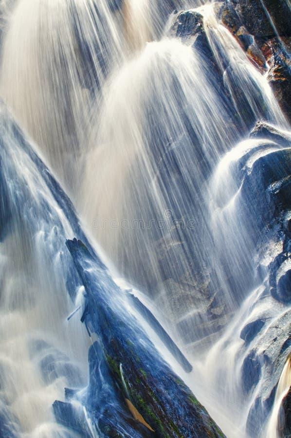 Cascades à écriture ligne par ligne photos stock