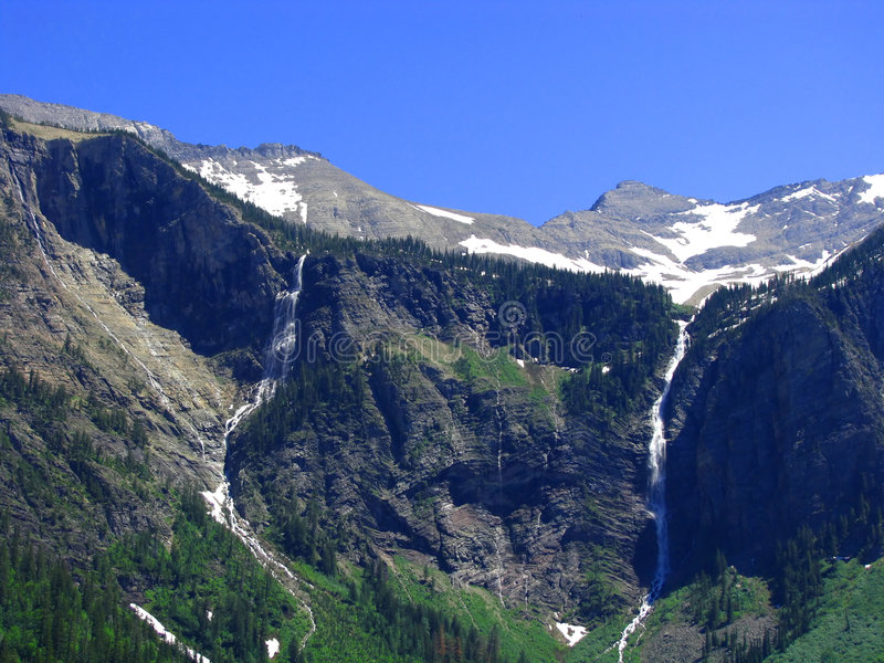 Cascades à écriture ligne par ligne photographie stock