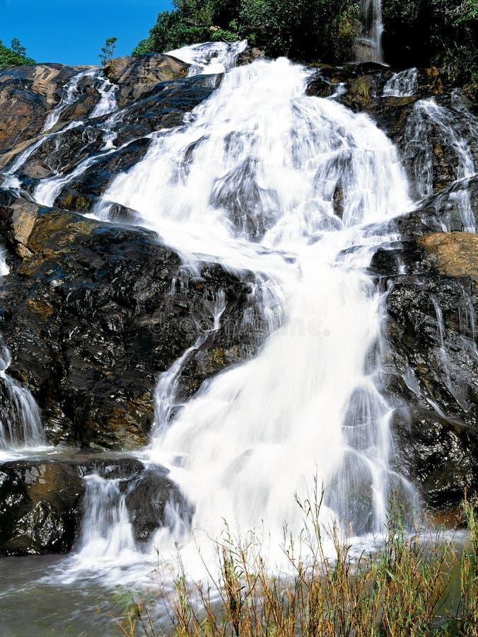 Cascades à écriture ligne par ligne au Souaziland image stock