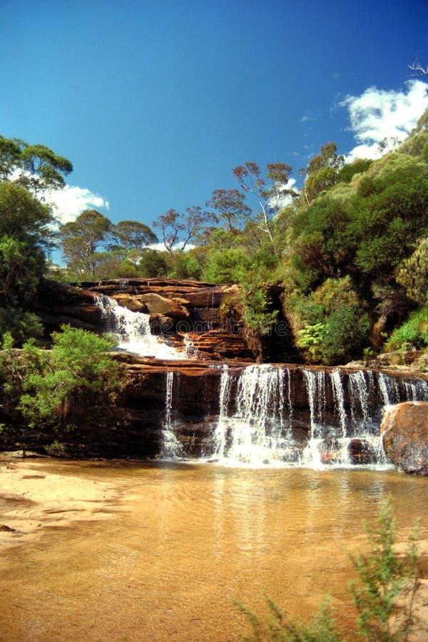 cascades à écriture ligne par ligne australiennes photos libres de droits