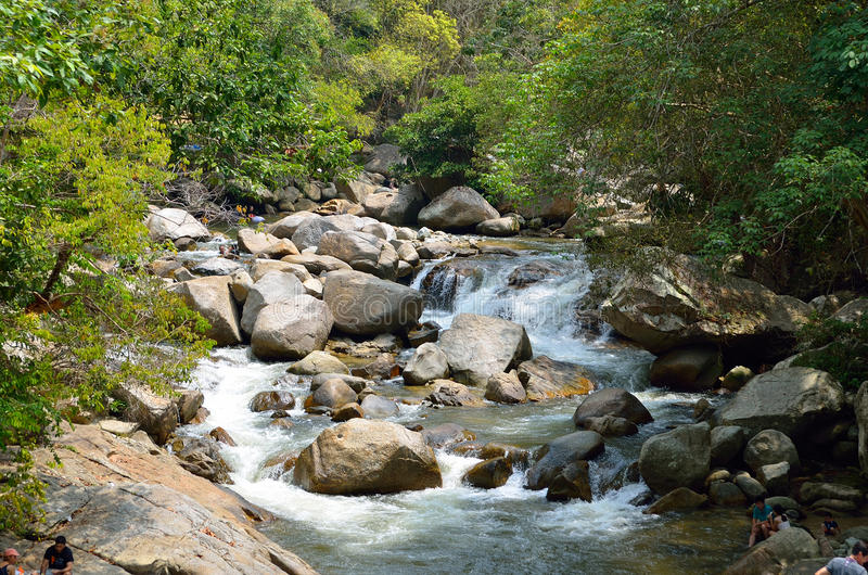 Cascades chez Sungai Kanching, Rawang, Selangor, Malaisie images stock