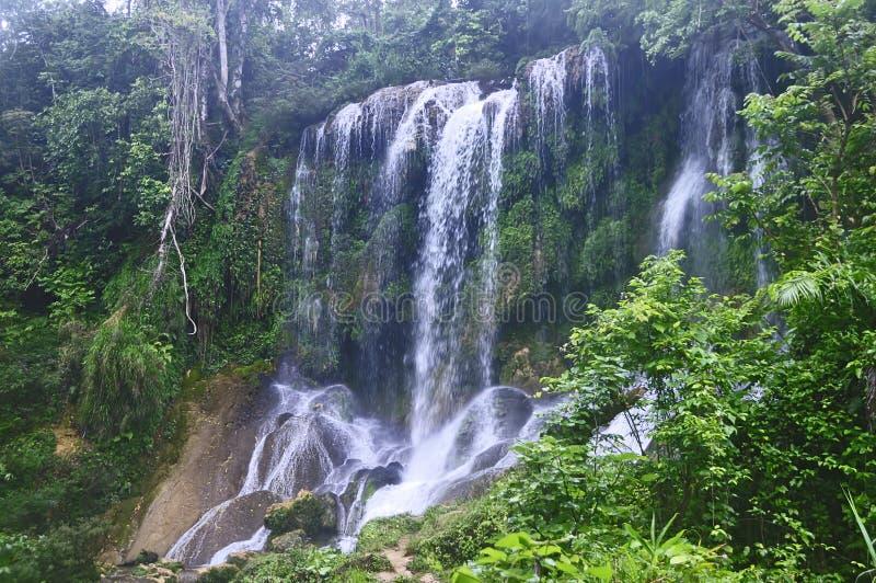 Cascades d'EL Nicho, Cuba photo stock
