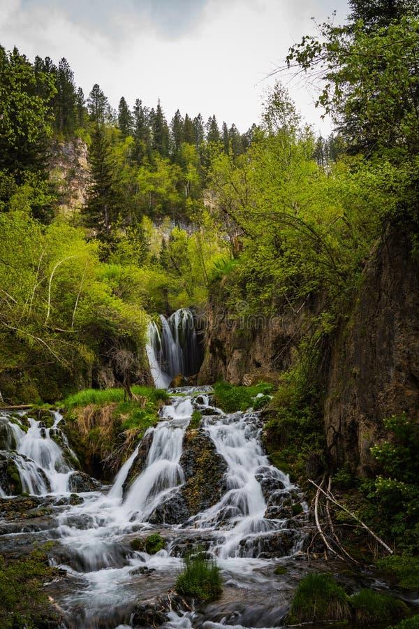 Cascades de collines de montagne de noir du Dakota du Sud photographie stock