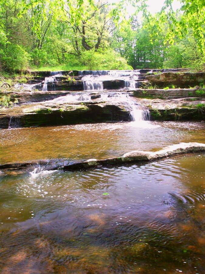 Cascades de crique de poêle dans le Wisconsin photo libre de droits