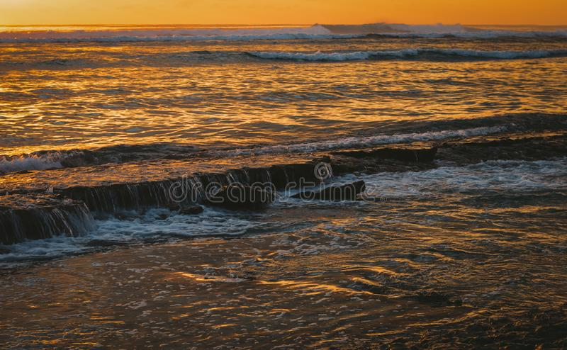 Cascades de piscine de marée photos stock
