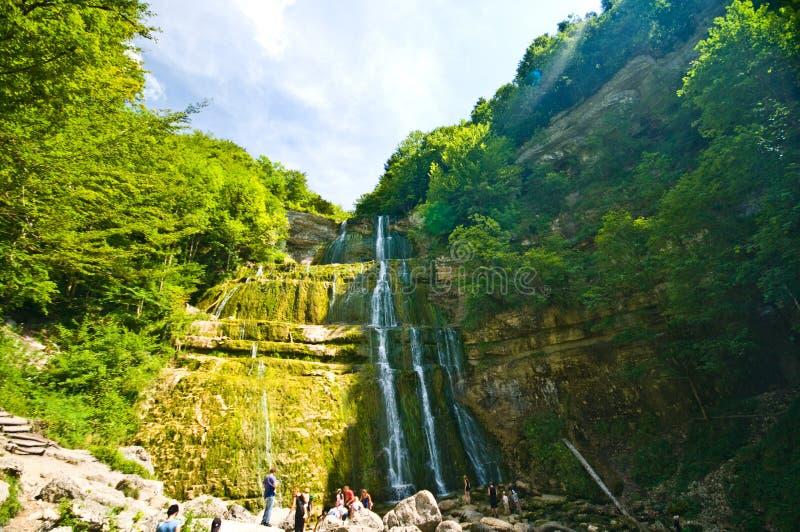 Cascades du Herisson στη Γαλλία στοκ φωτογραφία με δικαίωμα ελεύθερης χρήσης