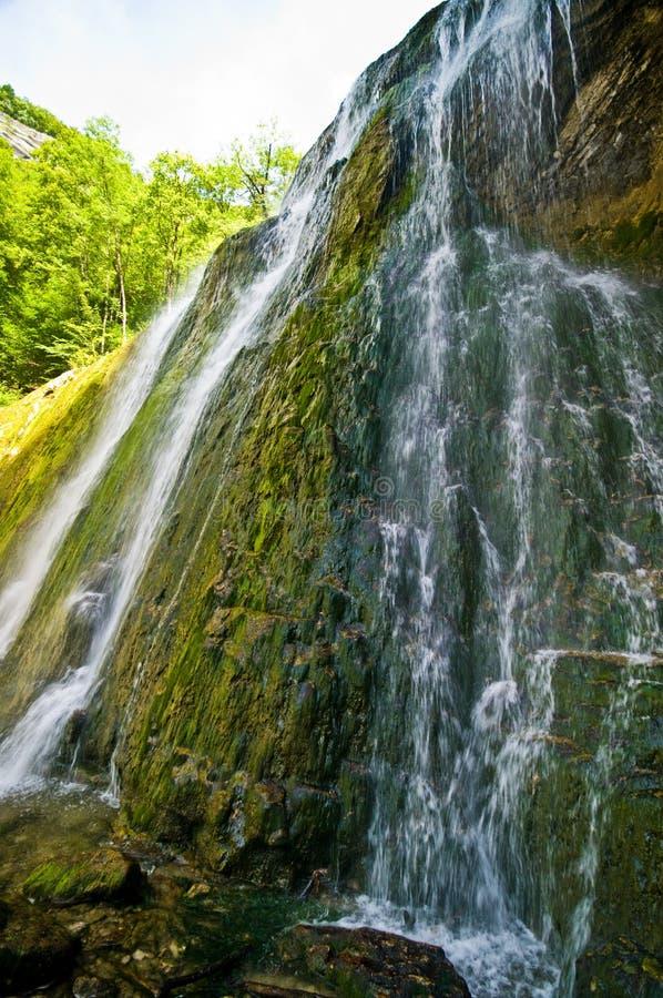 Cascades du Herisson in Frankrijk royalty-vrije stock afbeelding