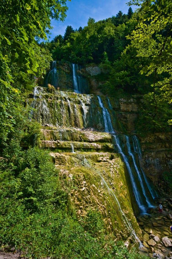 Cascades du Herisson in Frankrijk royalty-vrije stock foto's