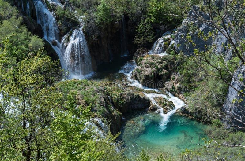 Cascades en Croatie image libre de droits