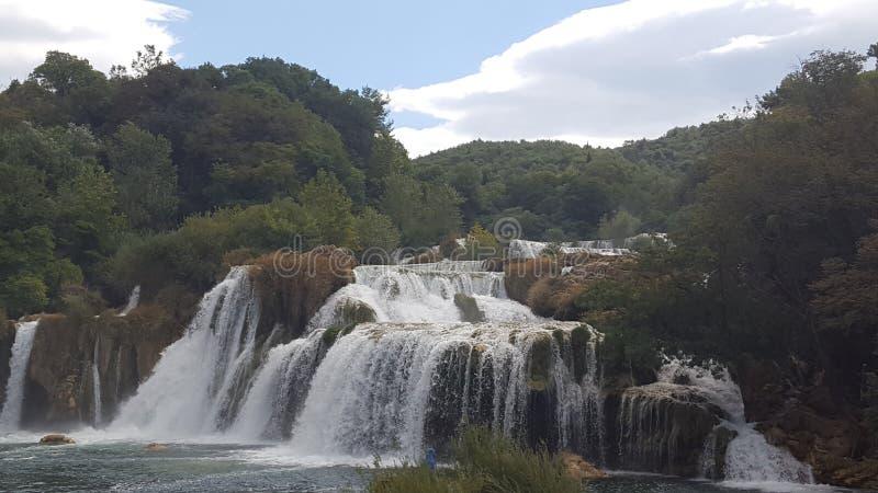 Cascades en Croatie images stock