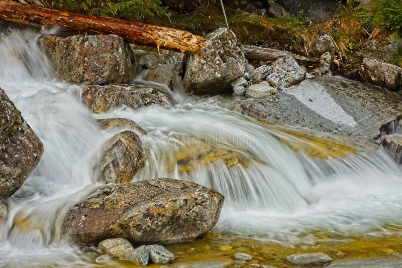 Cascades froides de grincement photos libres de droits