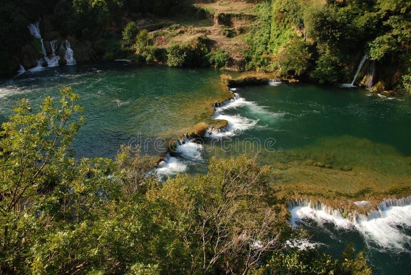 Cascades idylliques image stock