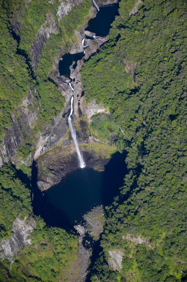 Cascades Reunion Island de Takamaka images stock