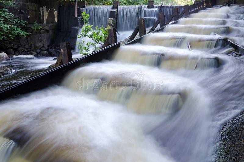 Cascades suédoises de l'eau images libres de droits