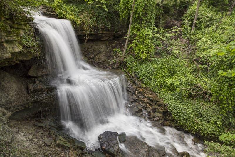 The Cascades of West Milton, Ohio royalty free stock photos