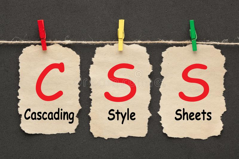 Cascading Style Sheets CSS royalty free stock photo