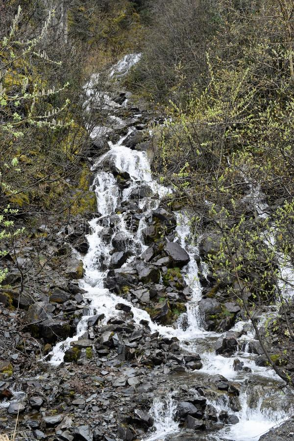 Cascading Water Down a Hill royalty free stock photos