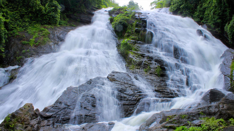 Cascading Waterfall stock image